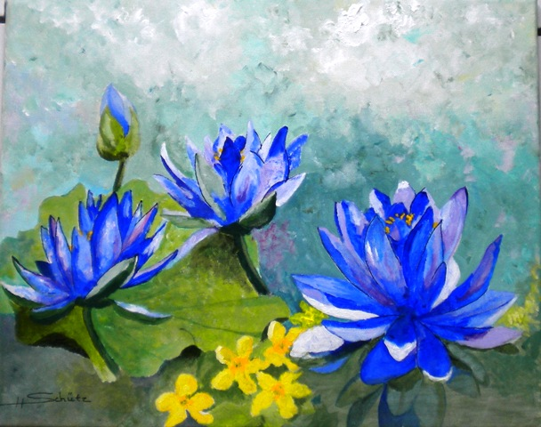Blue Waterlillies